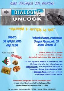 Volantino Cena solidale Multietnica - Dialogue to Unlock