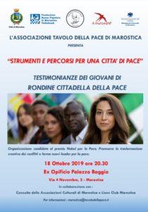 Volantino Tavolo della Pace-evento Rondine